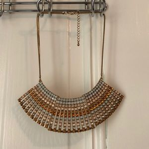 Jewelry - Statement bib with muted color crystals